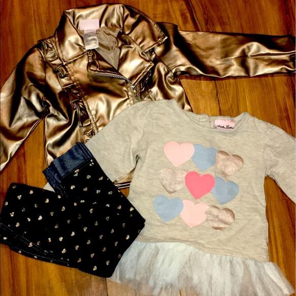Girls 2T Little Lass Heart Outfit